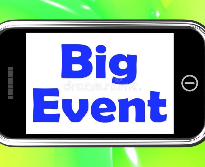 big event on phone shows celebration occasion festival and perfo stock illustration. Black Bedroom Furniture Sets. Home Design Ideas