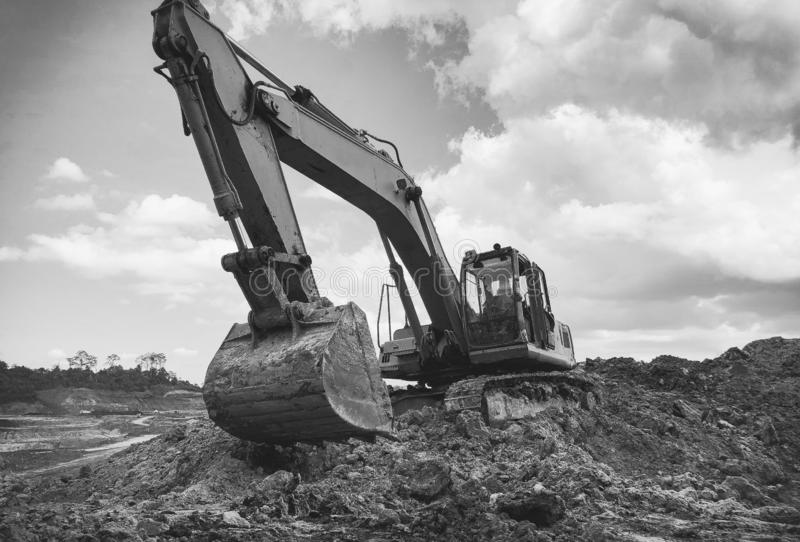 Big Excavator in the afternoon royalty free stock photography