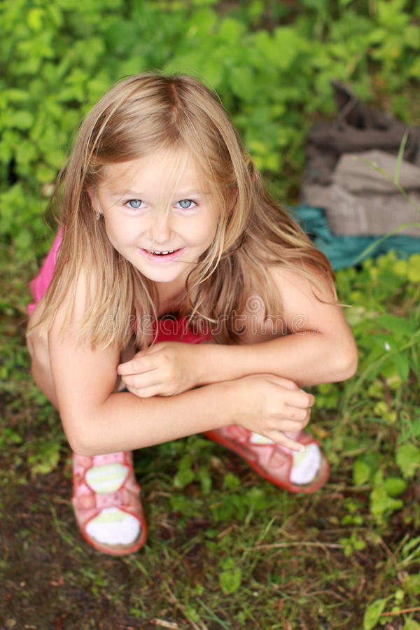 Free Big Eyes Of A Smiling Girl Royalty Free Stock Photography - 25398927