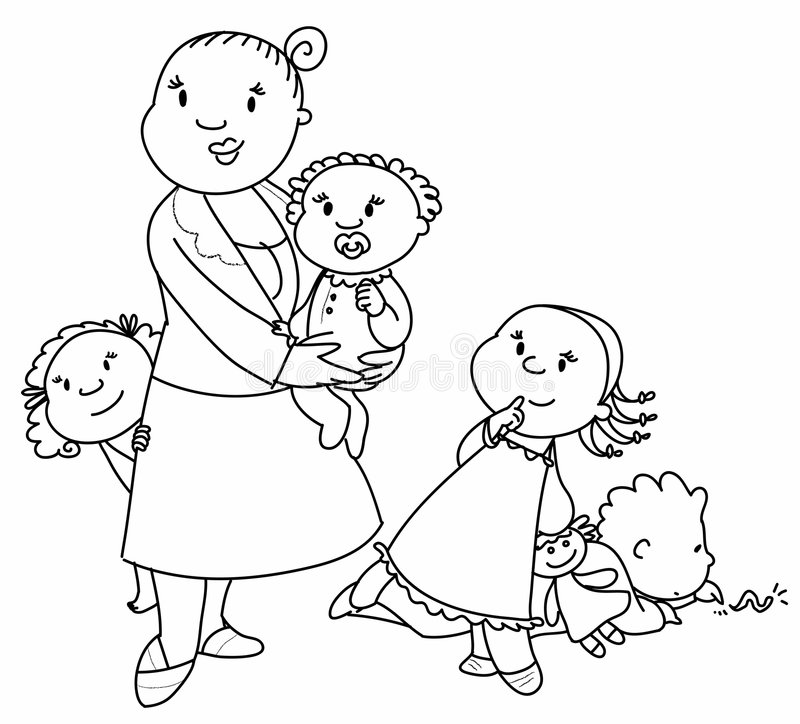 Download Big Family Vector Stock Image - Image: 6596791