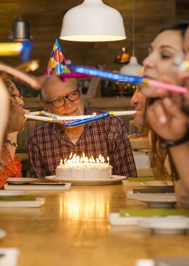Birthday Grandfather royalty free stock image