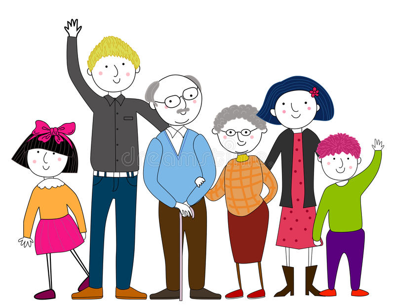 Big family. Illustration of a big family vector illustration