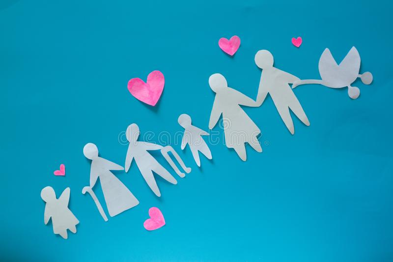 Big family with parents children stock images