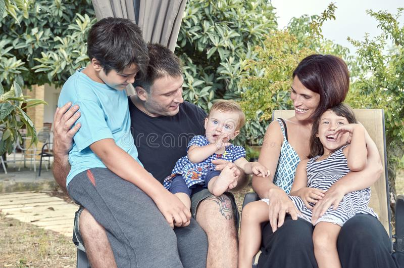 Big family. royalty free stock photos