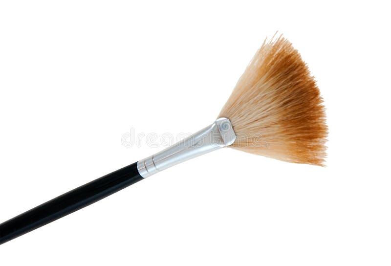 Big Fan Brush. Larger make-up brushes for powder base and blush royalty free stock photos