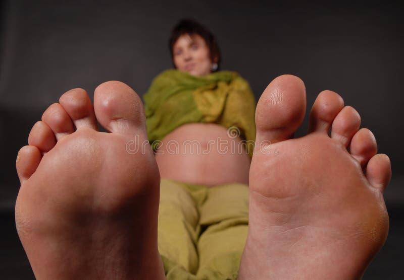Big feet stock photography