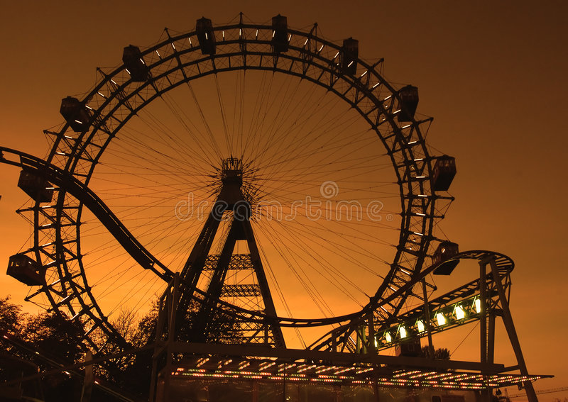 Download Big Ferries Wheel In Vienna Stock Image - Image of fair, carousel: 306963