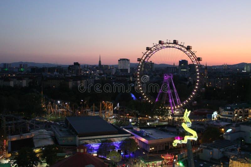 A big ferris wheel. In Prater, Vienna stock photos
