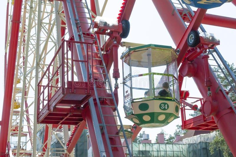 Big Ferris wheel against the sky. stock image