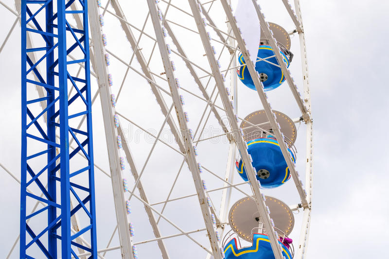 The big ferris wheel attraction stock photo