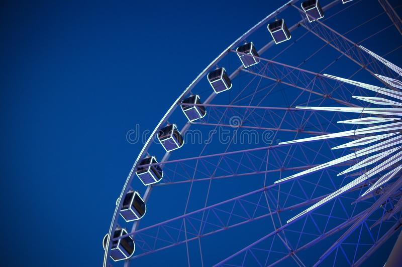 Big Ferris wheel with beautiful sky at night royalty free stock photography