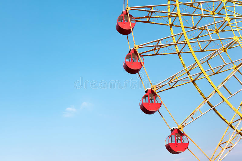 Big Ferris Wheel with Blue Sky Background stock image