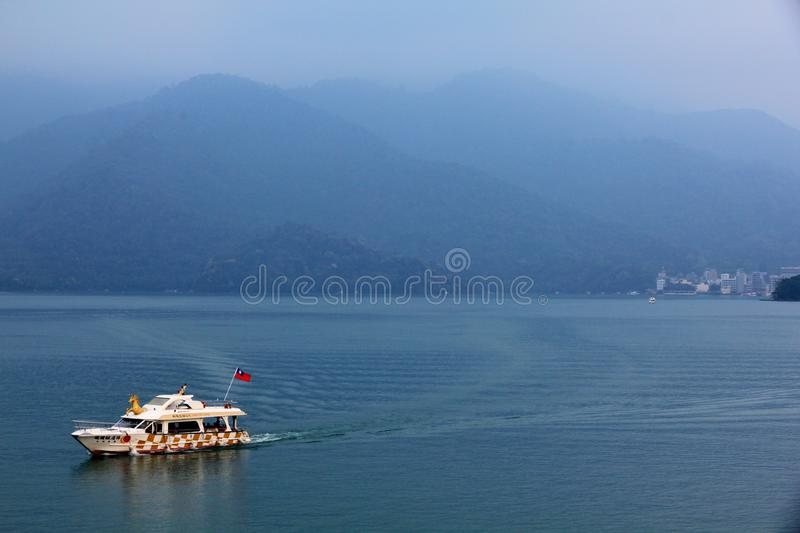 Landscape of Sun-Moon Lake in Taiwan royalty free stock photography