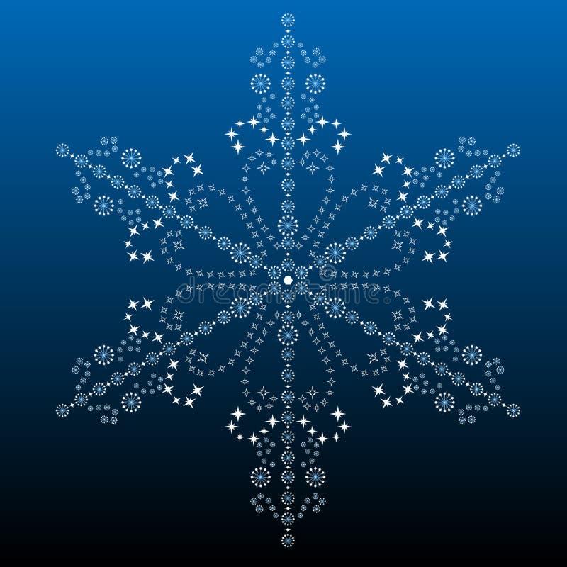 Big filigree detailed snowflake vector illustration
