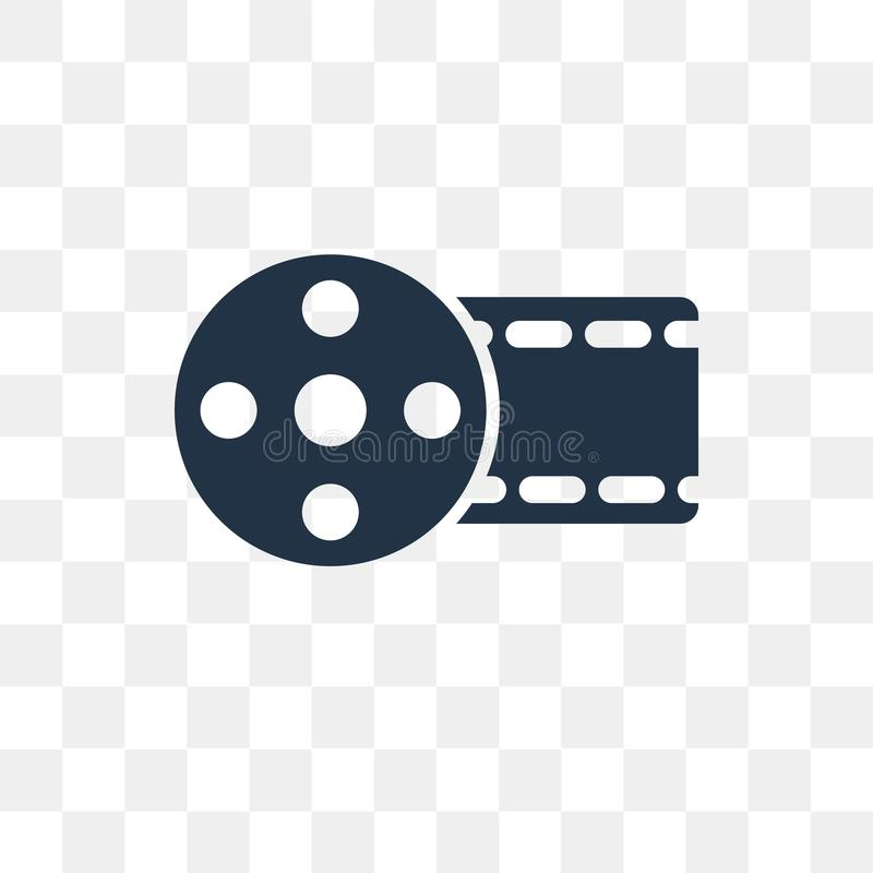 Big Film Roll vector icon isolated on transparent background, Bi vector illustration