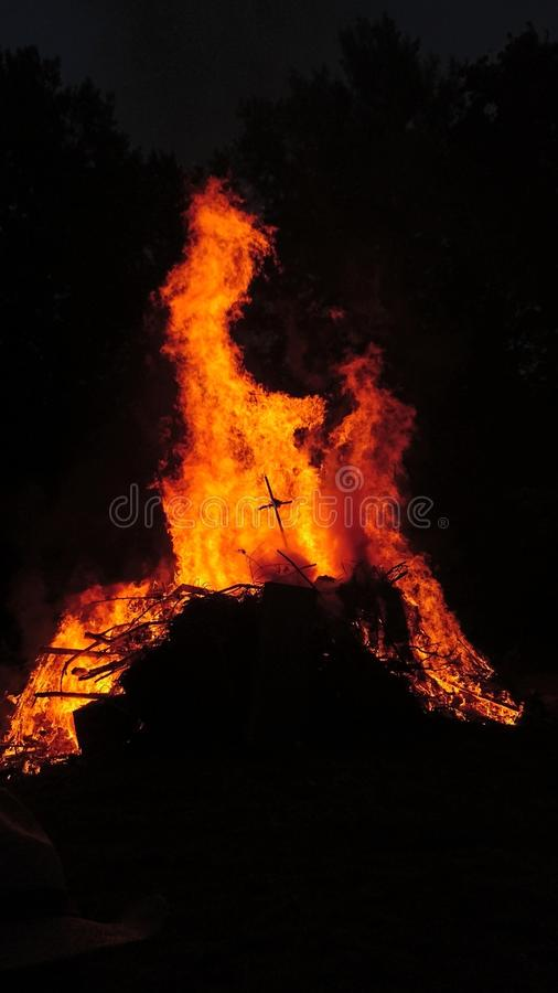 Big fire stock image