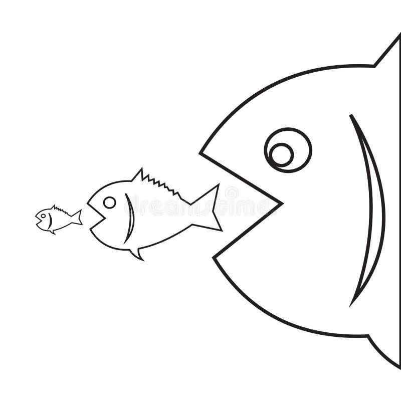 Big fish eat little fish stock vector illustration of for Big fish eat little fish
