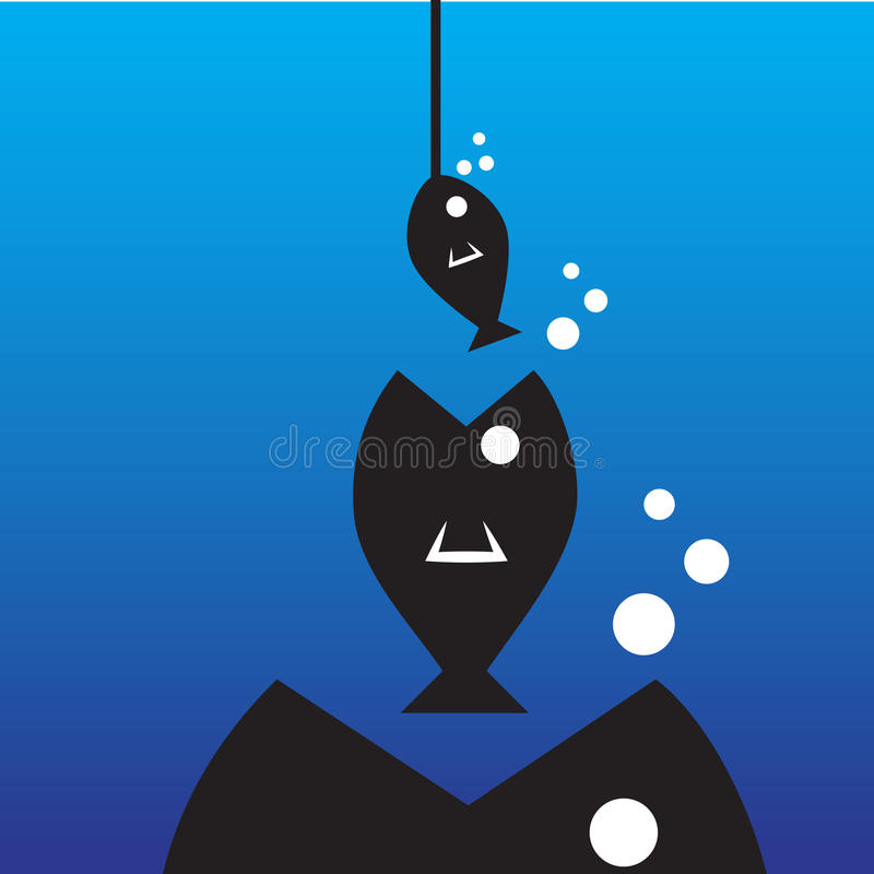 Big Fish Eat Little Fish Stock Vector Illustration Of Illustration