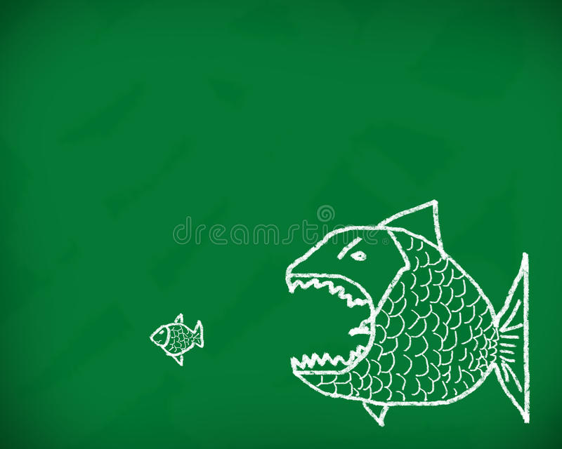 Download Big fish eats the small stock illustration. Image of ideas - 24651194