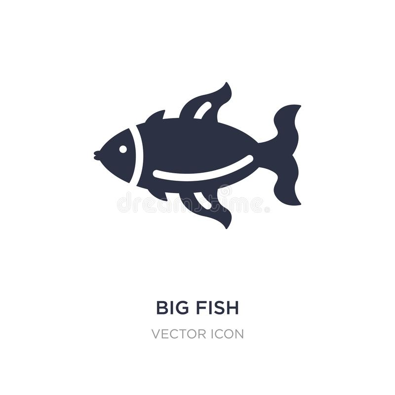 big fish icon on white background. Simple element illustration from Animals concept stock illustration