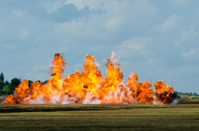 Big flame explosion royalty free stock image