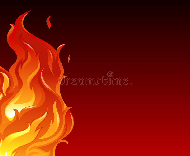 A big flame. Illustration of a big flame stock illustration
