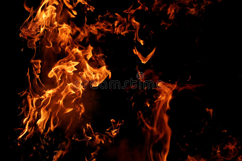 Big flames royalty free stock photos