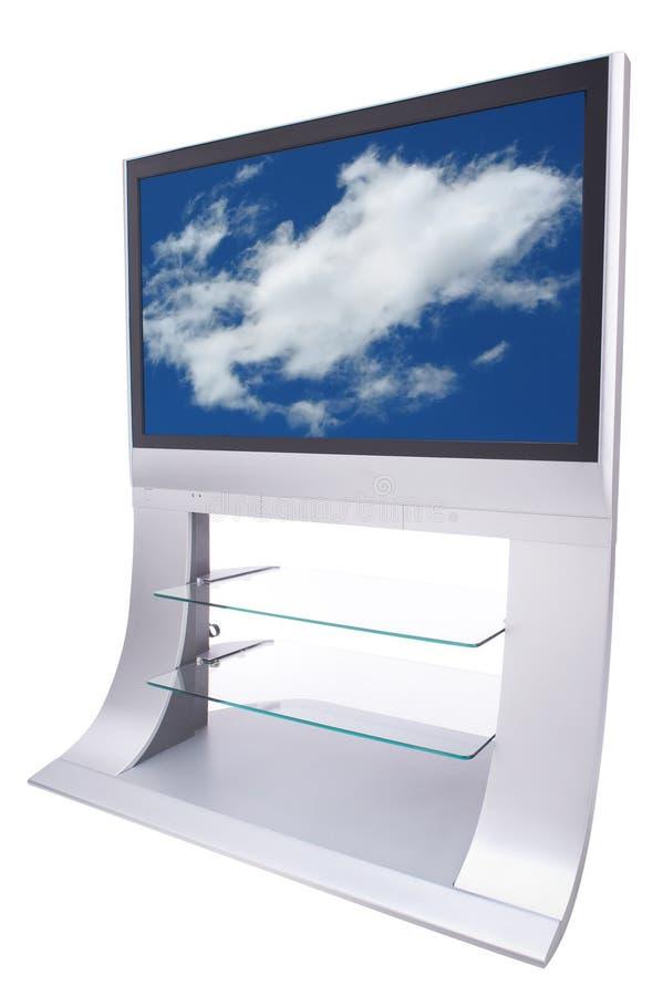 Big Flatscreen Television stock photography
