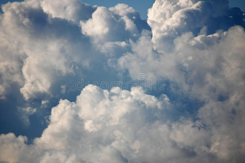 Big fluffy clouds royalty free stock image