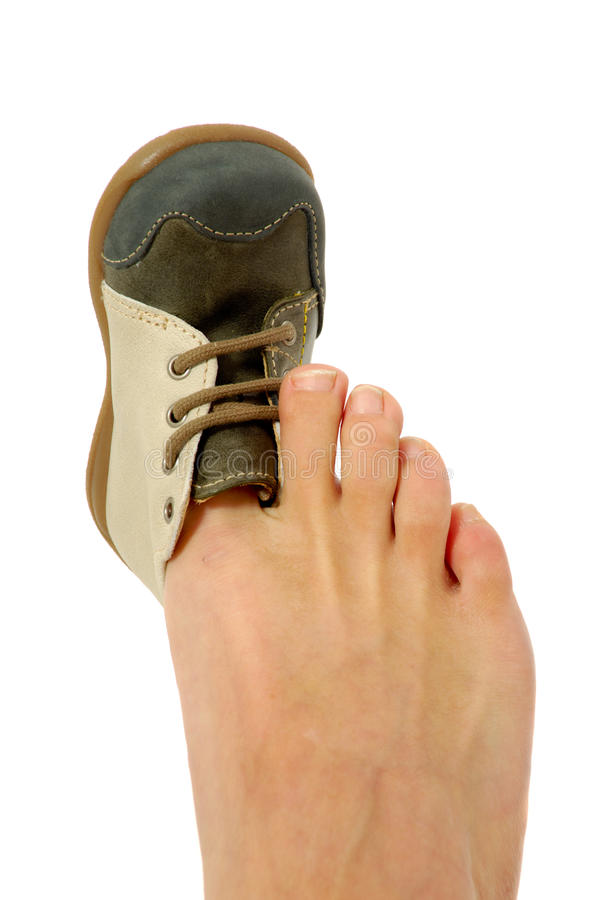 Download Big Foot Small Shoe Royalty Free Stock Image - Image: 16103996