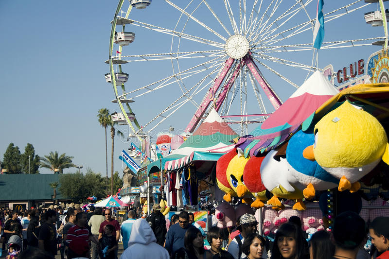 Big Fresno Fair (2 of 2) - Editorial. Annual Big Fresno Fair, a huge attraction in the Central Valley of California. Lasts a couple of weeks in October. May be stock photos