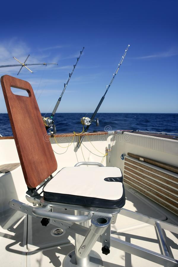 Download Big Game Boat Wooden Fishing Chair Stock Image - Image: 11874855