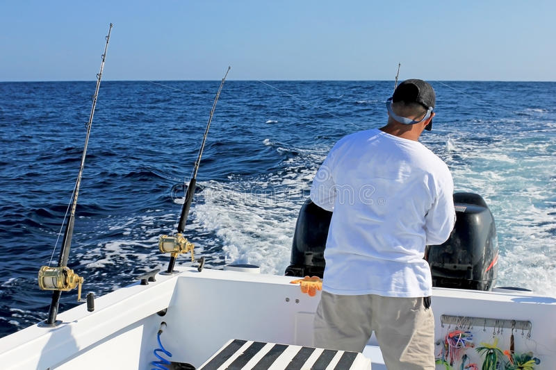 Big game or deep sea fishing in Costa Rica royalty free stock images