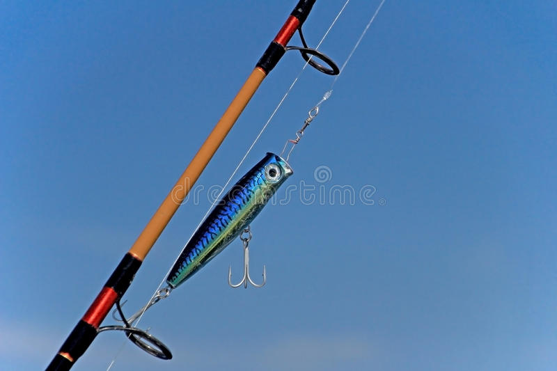 Big game fishing gear, equipment, Costa Rica. Central America royalty free stock photos