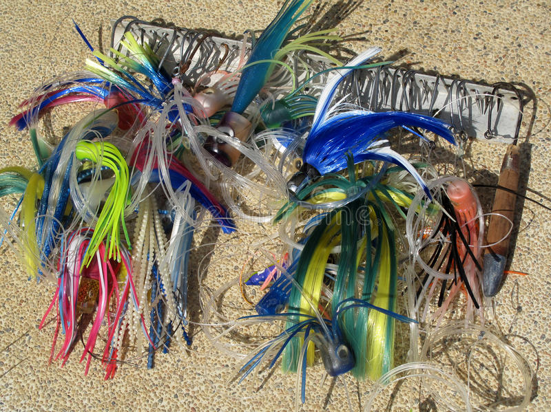 Big game fishing gear, equipment, Costa Rica. Central America stock image