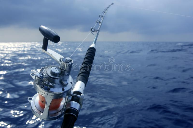 Big game obat fishing in deep sea royalty free stock photography