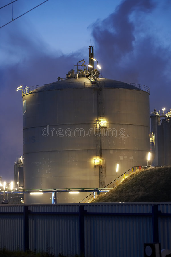 Big gas tank stock photo