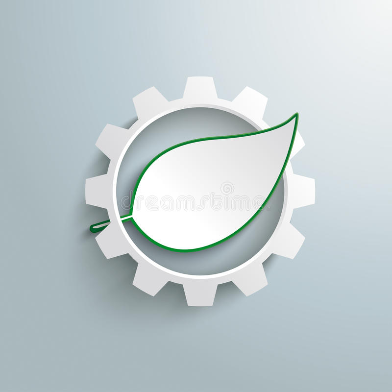 Big Gear Green Leave Infographic stock illustration