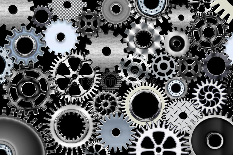 Big gears stock illustration