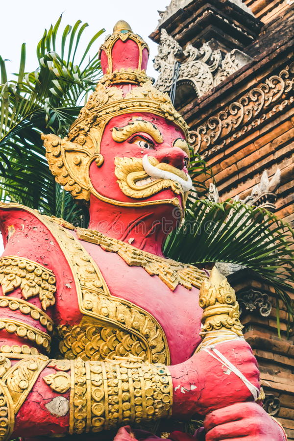 Big giant statue at the temple Thailand. stock photography