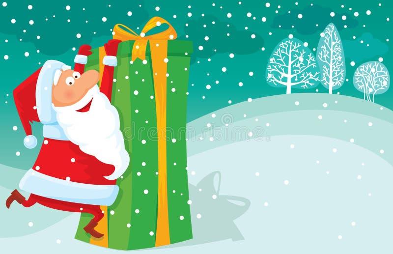 Download Big gift stock image. Image of cute, beard, scene, snowing - 12225149
