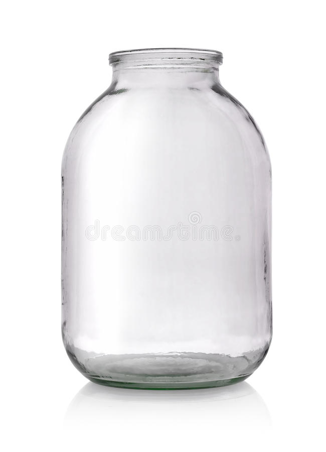 Big glass jar stock photo