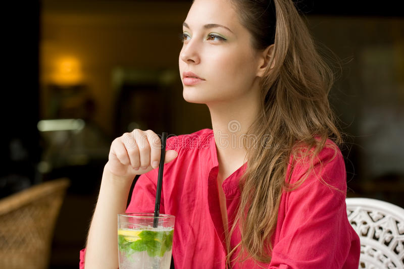 Big Glass Of Refreshment. Stock Images