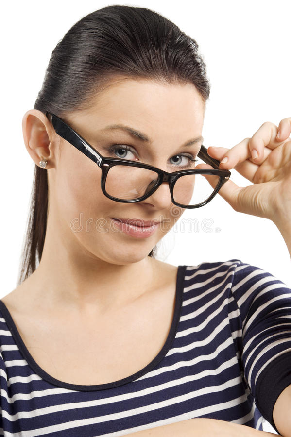 The big glasses royalty free stock image