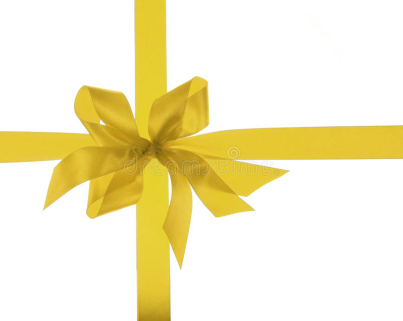 Download Big gold holiday ribbon stock photo. Image of background - 10699832
