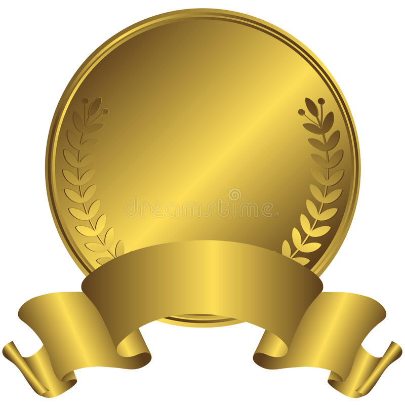 Big Gold Medal (vector) Stock Photo