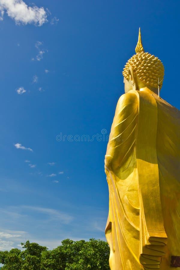 Big Golden Buddha statue stock photography