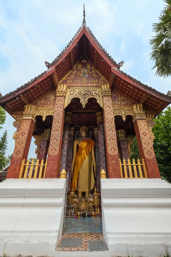 Buddha statue in a temple in Luang Prabang royalty free stock images