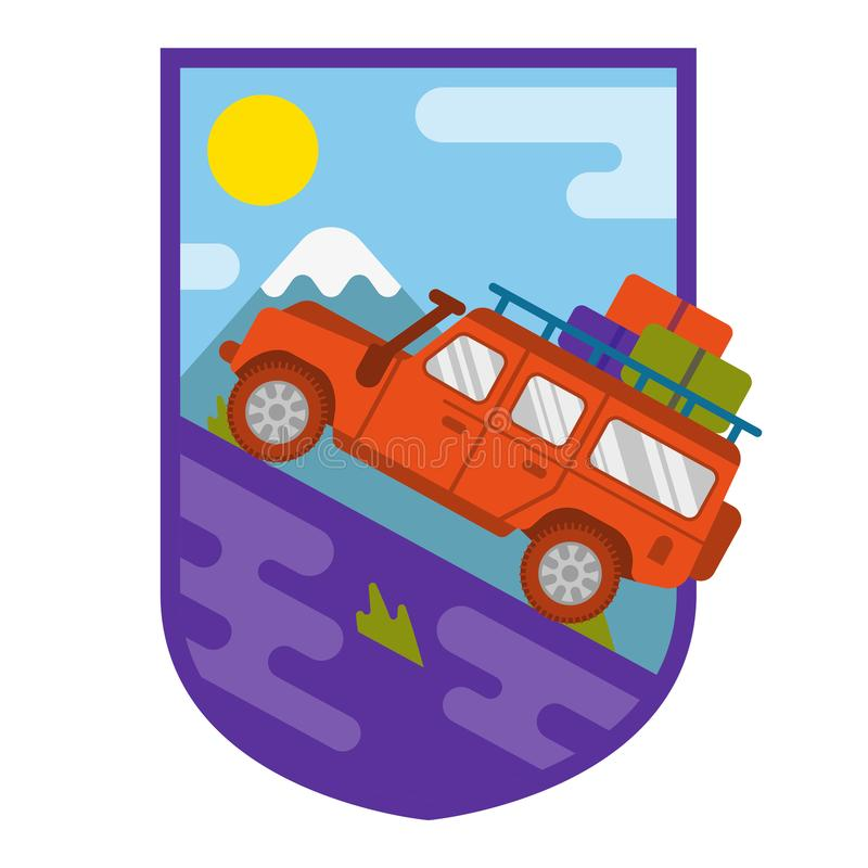 Travel truck car royalty free illustration