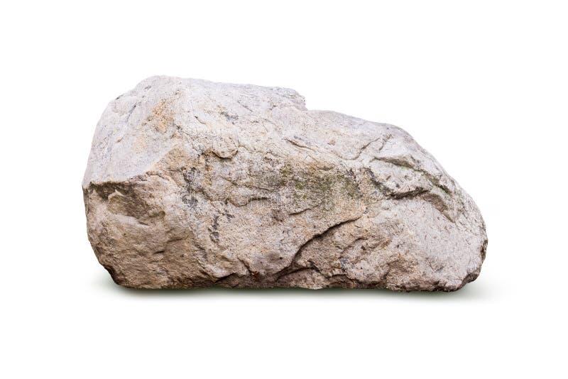 Big granite rock stone, isolated. On white background royalty free stock photography